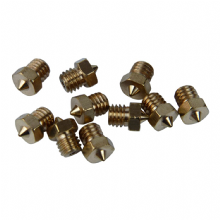 Short version V6 nozzle with4mm*M6 thread 0.4mm
